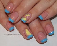 Baby inspired nail designs | Baby shower nail art ((boy or ...