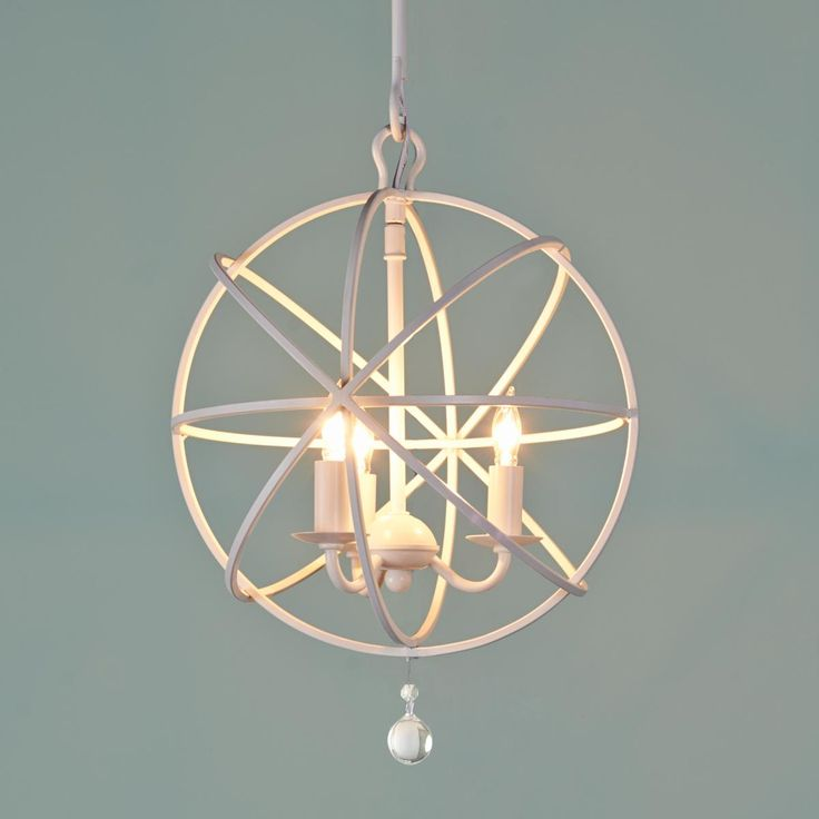 Small Orbit Chandelier Available in 4 Colors: Bronze