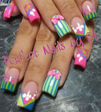 Acrylic nails | Easter nail design | Pinterest