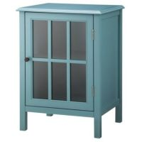Threshold Windham One Door Accent Cabinet - Teal