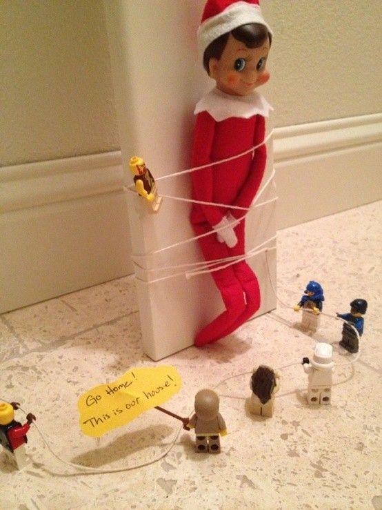 Creative Elf On The Shelf Ideas Fun Holidaze Pinterest