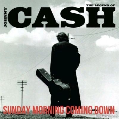 Sunday Morning Coming Down - Johnny Cash | TuneWiki Lyric Art | Pinte…