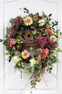 Front Door Wreath, Spring Wreath, Country Wreath ...