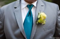 gray suit, teal tie, yellow boutonniere | Wedding Party ...
