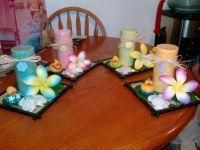 luau baby shower- candle centerpieces | Hawaiian Luau Baby ...