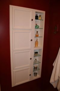 Recessed Bathroom Storage Cabinet : Excellent Black