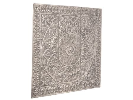 Square Metal Wall Art embossed metal wall art square metal wall plaque