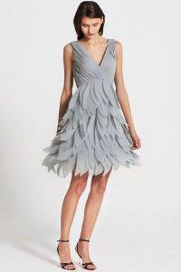 short gray bridesmaid dress | Chrissy's wedding | Pinterest