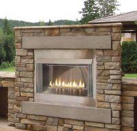 42 Inch Outdoor Contemporary Gas Fireplace | Decks | Pinterest