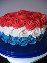 July 4th cake | Cake Decorating Ideas | Pinterest