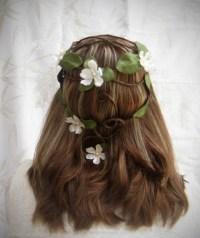 wedding hair wreath sorsha woodland hair wreath wedding ...