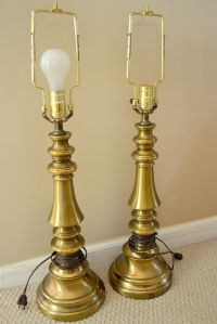 Brass lamps updated with spray paint