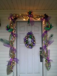 Mardi Gras door decoration | mardi gras mambo | Pinterest