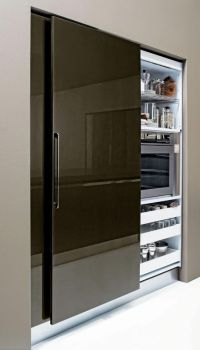 Sliding Pantry Door. | Small Space Living: | Pinterest