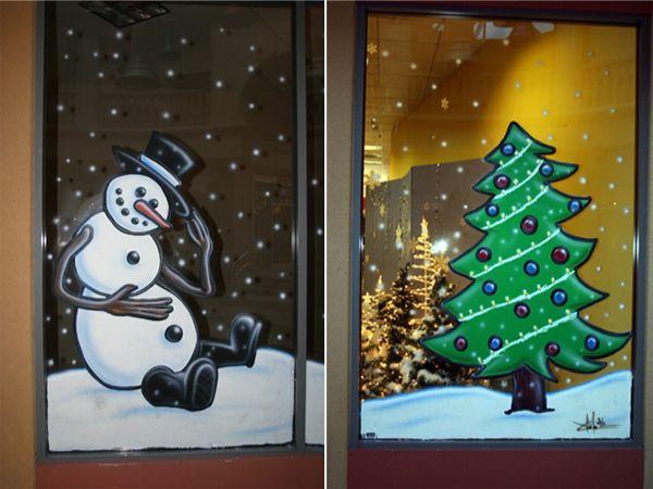 Christmas Window Painting Designs