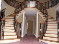 Less fancy dual staircase | Dream Home | Pinterest