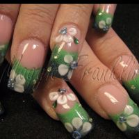 Nails acrylic flowers   Videos   Pinterest