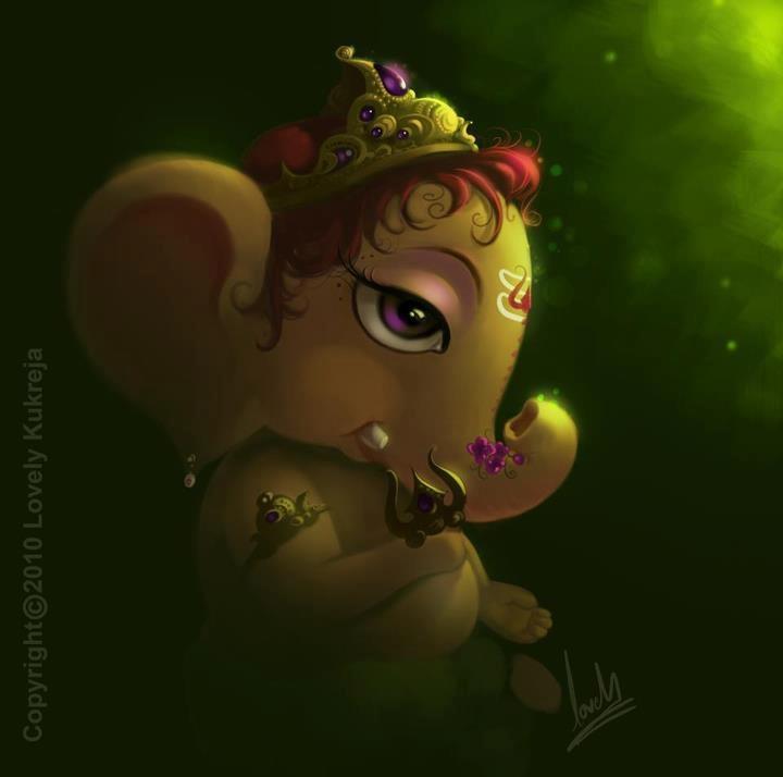 Krishna And Radha 3d Wallpaper Cute Baby Ganesh Wallpaper Jpg 720 215 714 Ganesh Pinterest