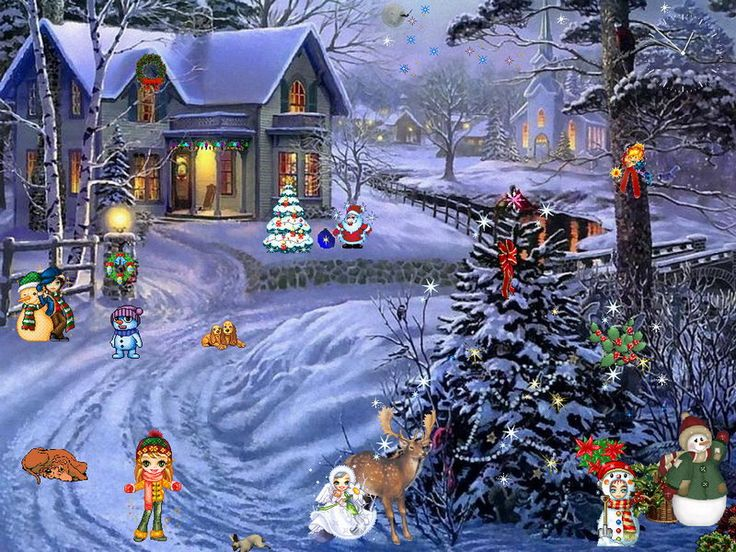 Santa Claus 3d Live Wallpaper And Screensaver Christmas Scenery Bing Images Christmas Pinterest