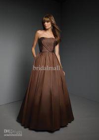 Chocolate brown bridesmaid dresses