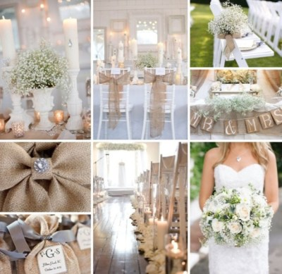 Burlap Wedding Ideas | Wedding stuff | Pinterest