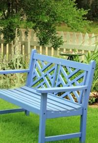 Blue Garden Bench | Garden Benches, Chairs & Sheds | Pinterest