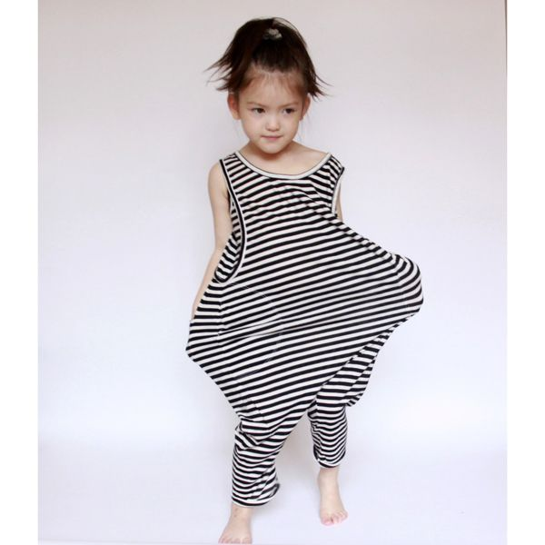 black and white strips jumpsuit - cute kid