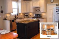 Cabinet Refacing Before and After | Kitchen | Pinterest