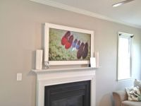 Wall mounted TV Frame | home | Pinterest