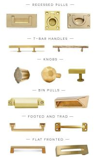 a hardware round-up of the prettiest kind, brass hardware ...