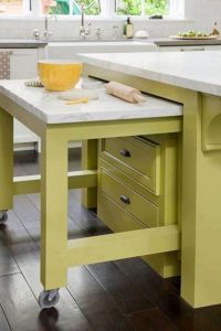 Island with pull out table