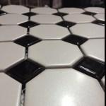 Black And White Octagon Bathroom Floor Tile
