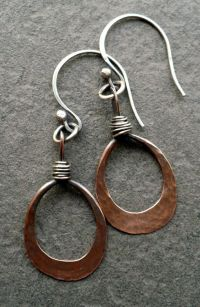 ENDLESS-handmade sterling silver and copper earrings