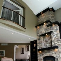 Tall fireplace | For the Home | Pinterest