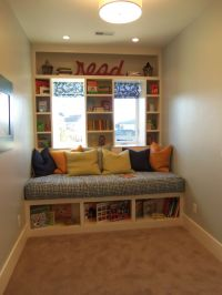 Reading nook and bench | Rooms for the offspring | Pinterest