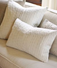 Cable Knit Lumbar Throw Pillow, Ivory | Decorative likes ...