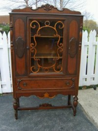Antique Curio Cabinet | Memories - remember when? | Pinterest