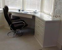 Bay window desk idea ~MB   Basement Ideas   Pinterest