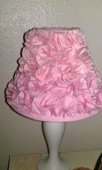 Girls pink bedroom lamp shade