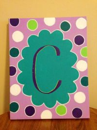 Canvas - polka dot initial wall art | If I Ever Forgot My ...