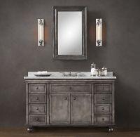 Zinc vanity-Restoration Hardware | Bathroom Oasis | Pinterest