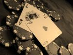 Ace Card And Poker Chips Wallpaper