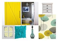 Master Bedroom - Yellow, Grey, Teal | For the House ...