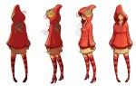 Female Character Turnaround Sheet