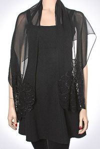 Silk Black Evening Shawl | Wraps, Shrugs and Shawls ...