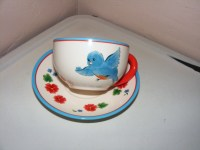 cute tea cups and saucers | Blue Bird Cup and Saucer Tea ...