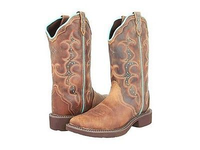 Justin Boots Womens Square Toe With Amazing Photo In South