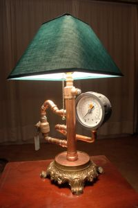 steampunk lamp on etsy $200 | For the Home | Pinterest
