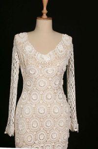 Hand Crochet Wedding Dress | Crochet Wedding | Pinterest