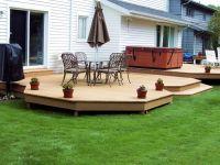 Ground Level Deck Designs   deck   Deck   Pinterest